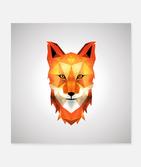 Nature Posters - Fox - Posters white