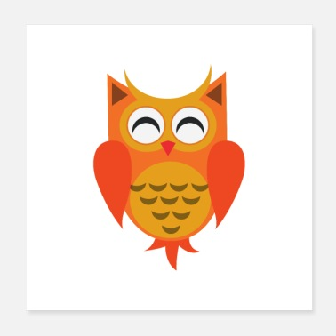Womens Cute owls design - Poster