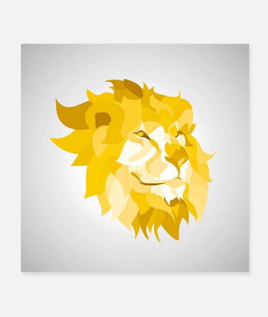 Art Posters - lion - Posters white