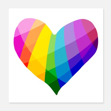 Gay Pride Rainbow Heart - Poster