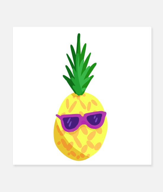 Heat Posters - Cool Pineapple - Posters white