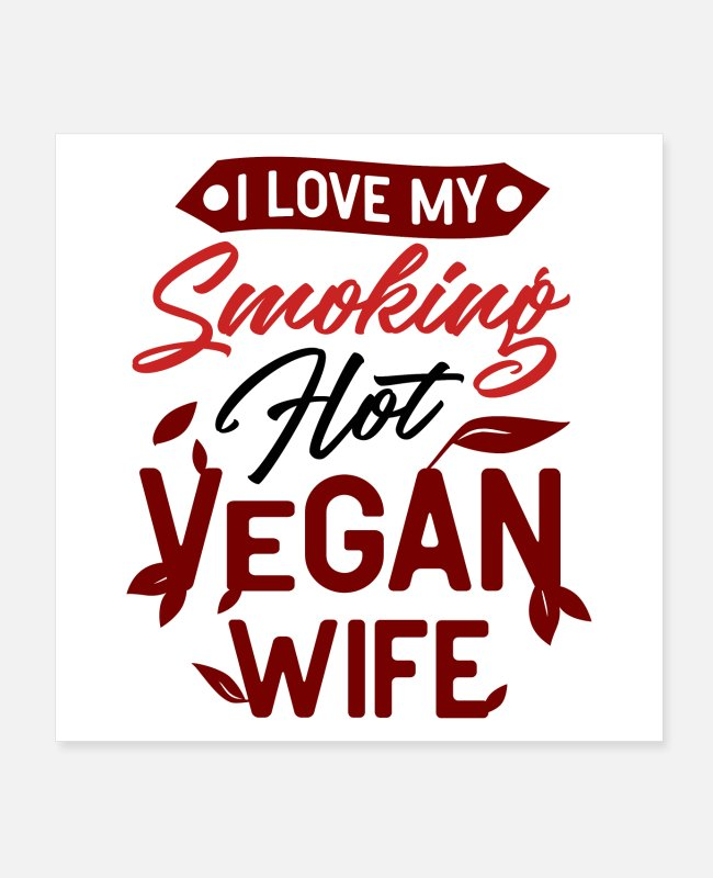 Hotshot Posters - Vegan hot woman - Posters white