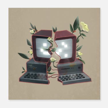 Pc Computer with Plants - Nature fights back - Poster