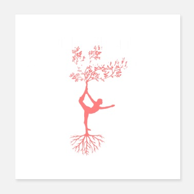 Pose simple yoga design - Poster