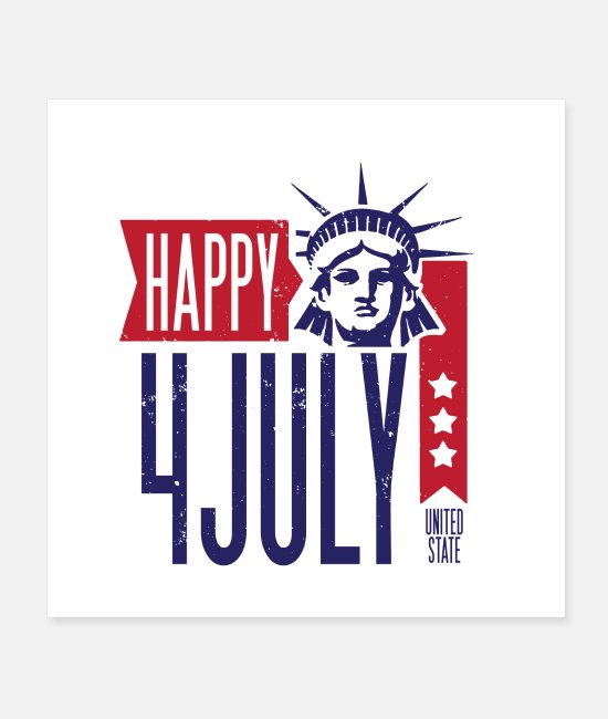 Usa Posters - Happy 4th july - Posters white