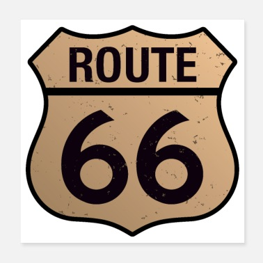 Travel Route Route 66 - Poster