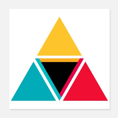 Triangle colorful triangles - Poster