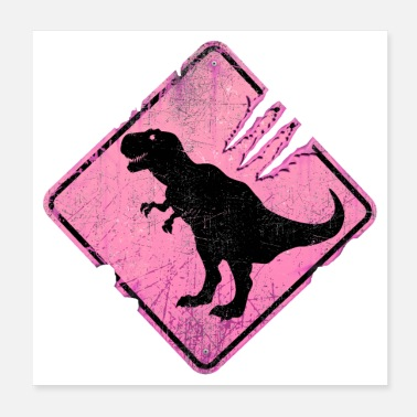 Fossil Caution: T-Rex Crossing - Poster
