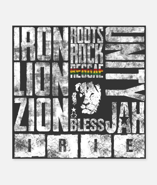 Jah Posters - reggae nation - Posters white