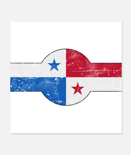 Central America Posters - Panama roundel flag air force style - Posters white