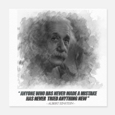 Motivational poster quote albert einstein - Poster