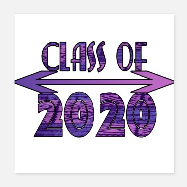 Milestone Class of 2020 Purple Tribal Print Design - Poster