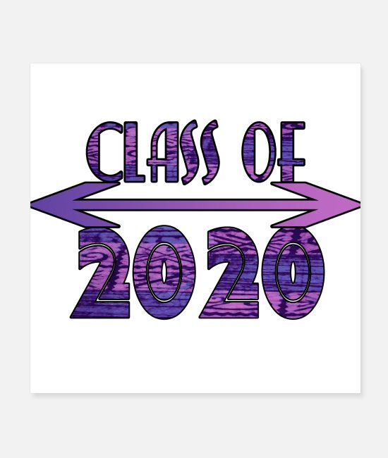 High Posters - Class of 2020 Purple Tribal Print Design - Posters white
