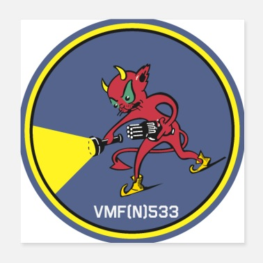 Usaf-patch VMF (N) 533 Patch - Poster