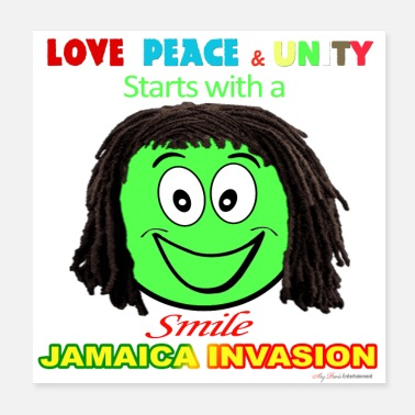 Jamaica Jamaica Invasion Love Peace & Unity - Smile - Poster