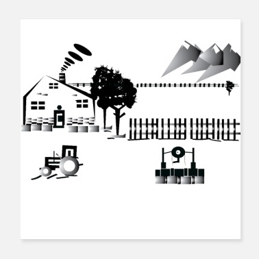 Countryside wew t-shirt Country house - Poster