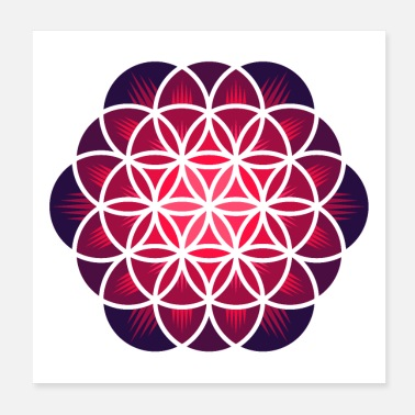 Flower Of Life Purple Flower of Life - Poster