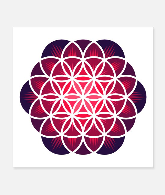 Zen Posters - Purple Flower of Life - Posters white