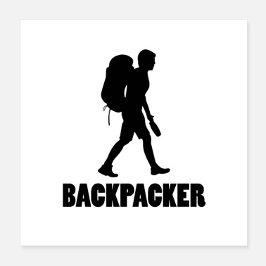 Backpacker Backpacker silhouette - Poster