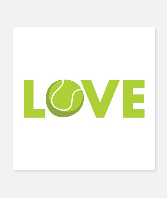 Heart Posters - Tennis Love - Posters white