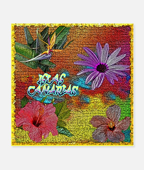 Gran Canaria Posters - Flowering from the Canary Islands - varicolored - Posters white