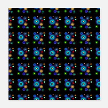 Bright Colors geometric pattern background with bright colors - Poster