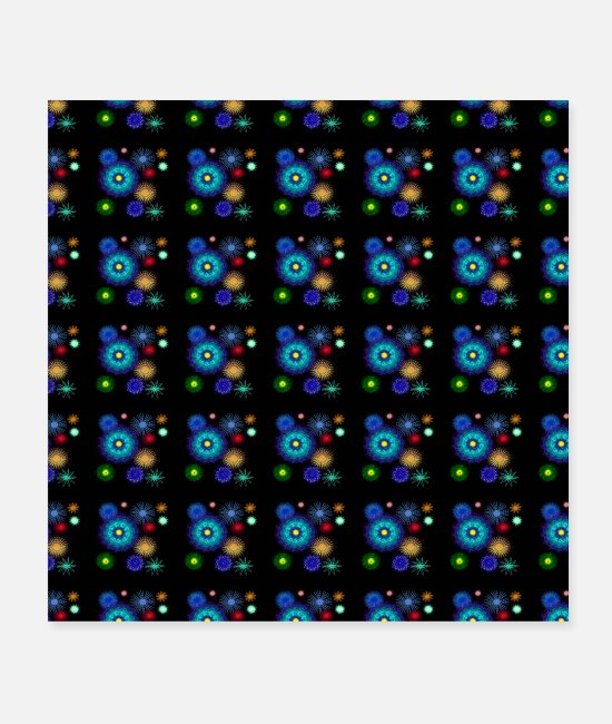 Design Posters - geometric pattern background with bright colors - Posters white