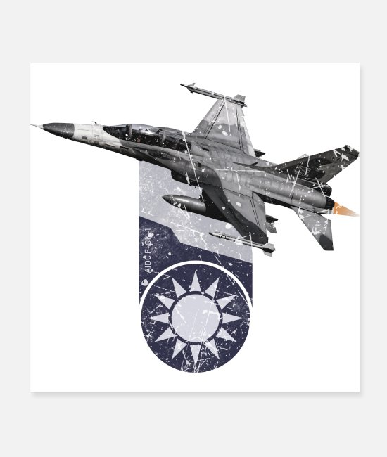 Fighter Posters - AIDC F CK 1 Taiwan Air Force Fighter Plane - Posters white