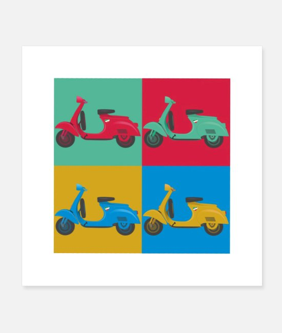 Scooter Posters - Vespa 46 Slim - Posters white