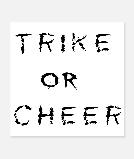 Year Posters - TRIKE or CHEER - Posters white