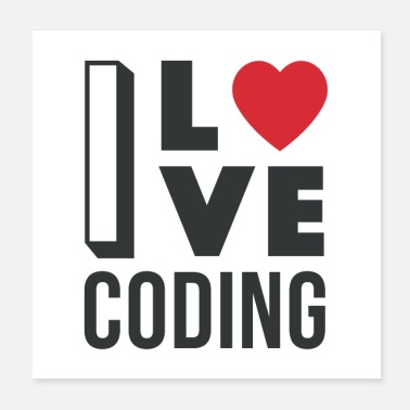 Code I Love Coding - Poster
