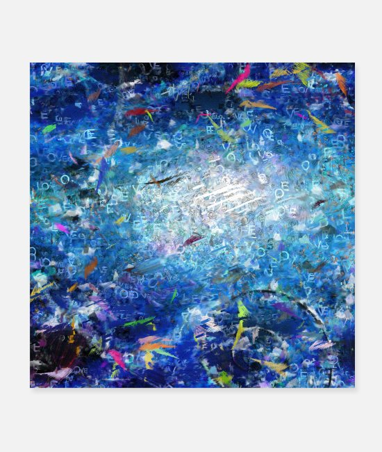 Secret Posters - Abstract Canvas - Posters white