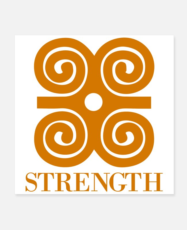 Competition Posters - Adinka Strength Symbol Gift Idea - Posters white