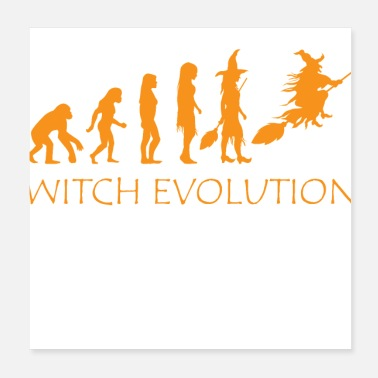 Witch Evolution Halloween Funny Costume Witch Evolution Halloween Funny Costume - Poster