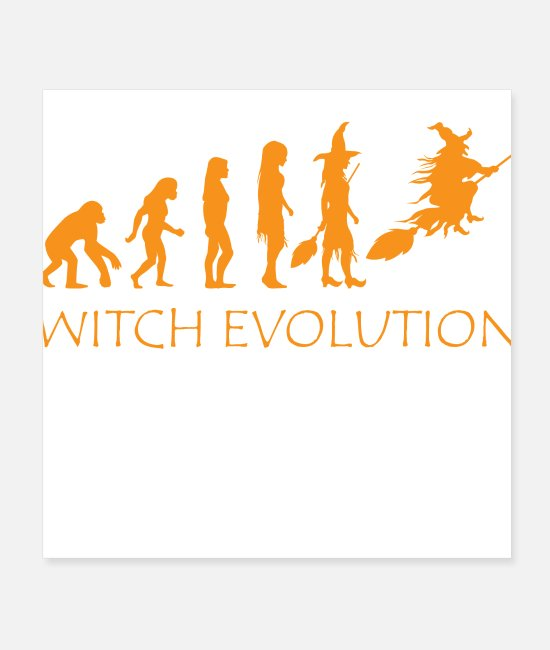 Witch Evolution Halloween Funny Costume Posters - Witch Evolution Halloween Funny Costume - Posters white