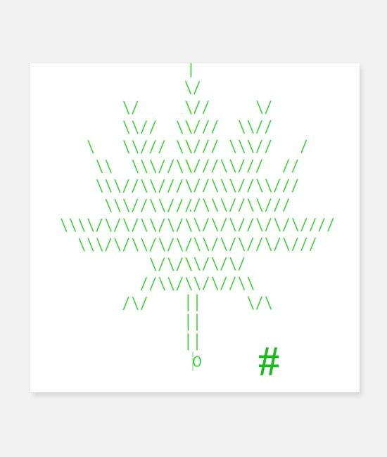 Cannabis Posters - Binary Pot Leaf - Posters white
