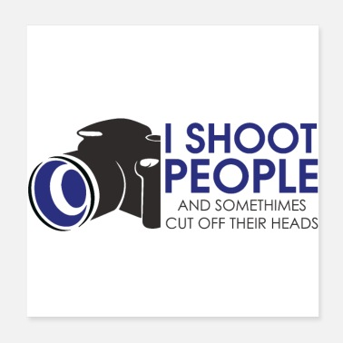 Shooting Star Funny photographer shoots people - Poster
