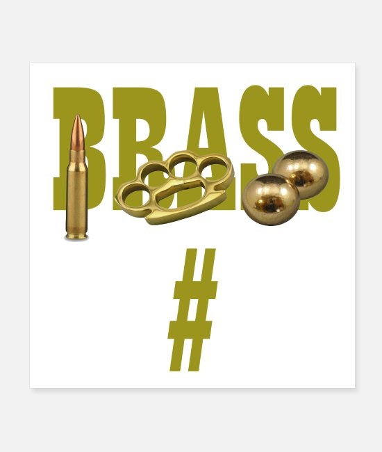 Knuckles Posters - Brass - Posters white