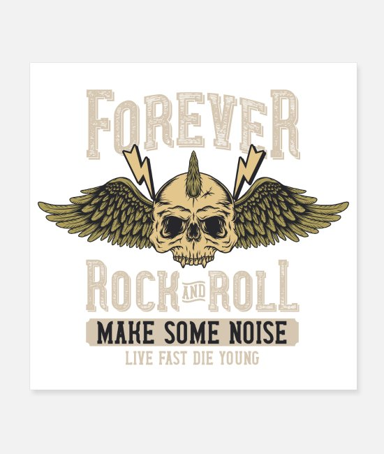 Chant Posters - Forever Rock and Roll Make Some Noise Festival - Posters white