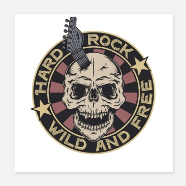 Bassist Hard Rock Music Festival Wild And Free Heavy Metal - Poster