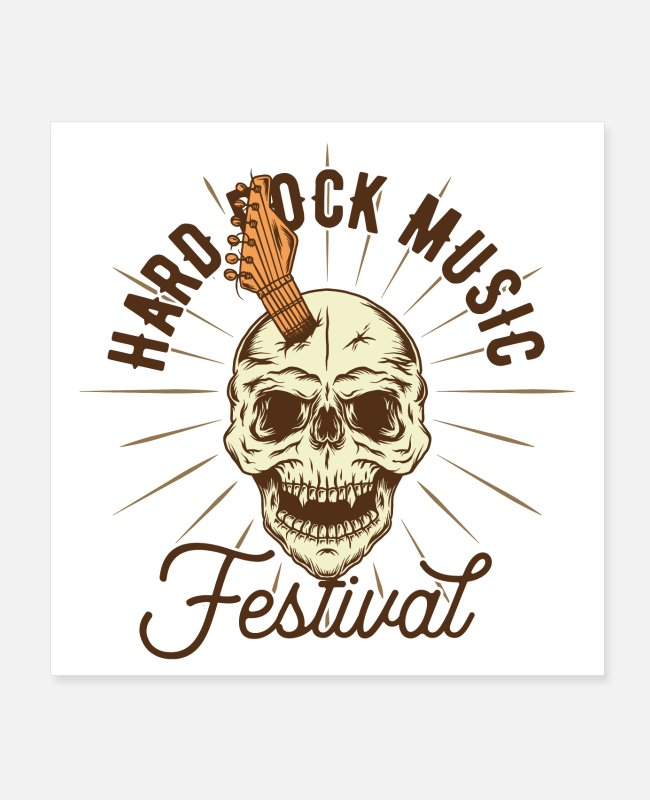 Music Star Posters - Hard Rock Music Festival Open Air Rock and Roll - Posters white