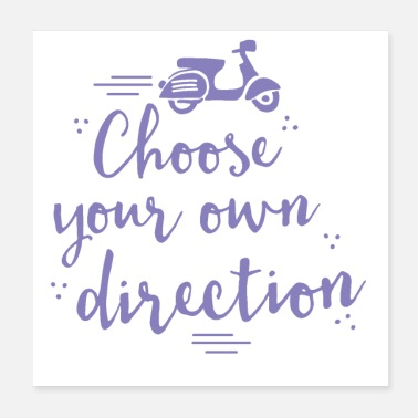 Transportation Choose your own direction wit transport moped - Poster
