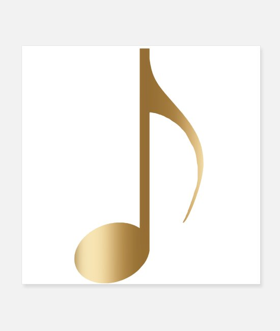 Music Star Posters - Golden Music Note - Posters white