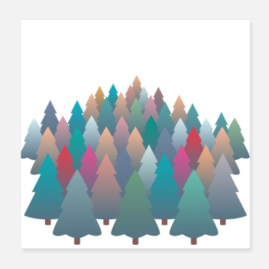 Meadow Winter Autumn Forest Design - Poster