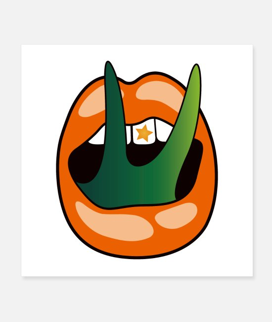 I Love Posters - Pumpkin Reptile Split Mouth Classic - Posters white