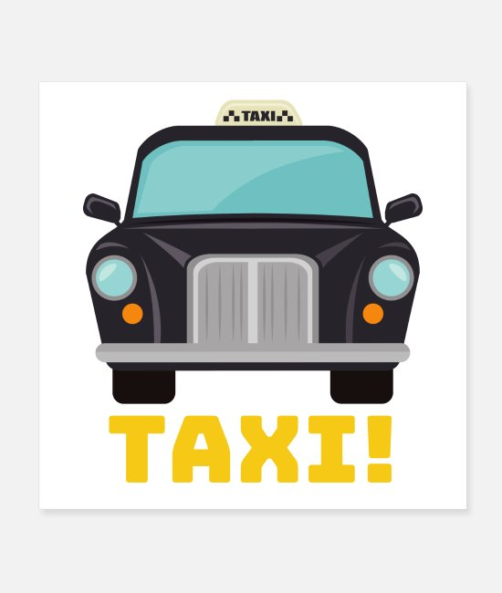 Travel Posters - Taxi! - Posters white