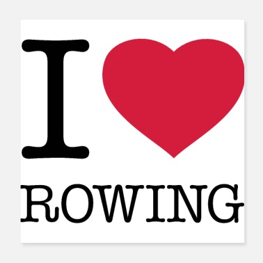 Rudder I LOVE ROWING - Poster