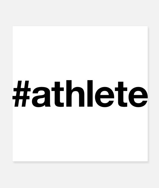 Athletics Posters - ATHLETE - Posters white