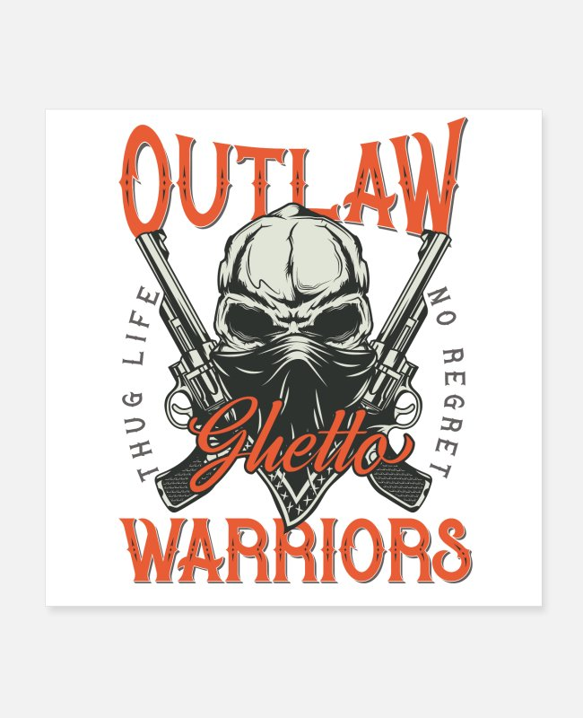 Outlaw Posters - Bandidas font 15 - Posters white