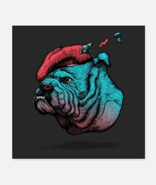 English Posters - Old English Bulldog - Posters white